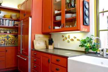 Best 40 colorful kitchen cabinet remodel ideas for first apartment (22)
