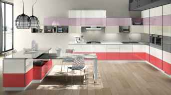 Best 40 colorful kitchen cabinet remodel ideas for first apartment (23)
