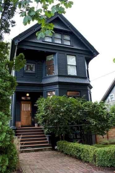 35 handsome black house exterior decor ideas (23)