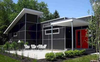 35 handsome black house exterior decor ideas (29)