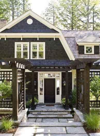 35 handsome black house exterior decor ideas (3)