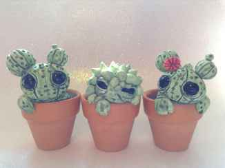 25 easy to try diy polymer clay cactus design ideas (17)