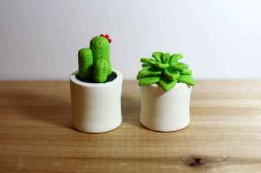25 easy to try diy polymer clay cactus design ideas (20)