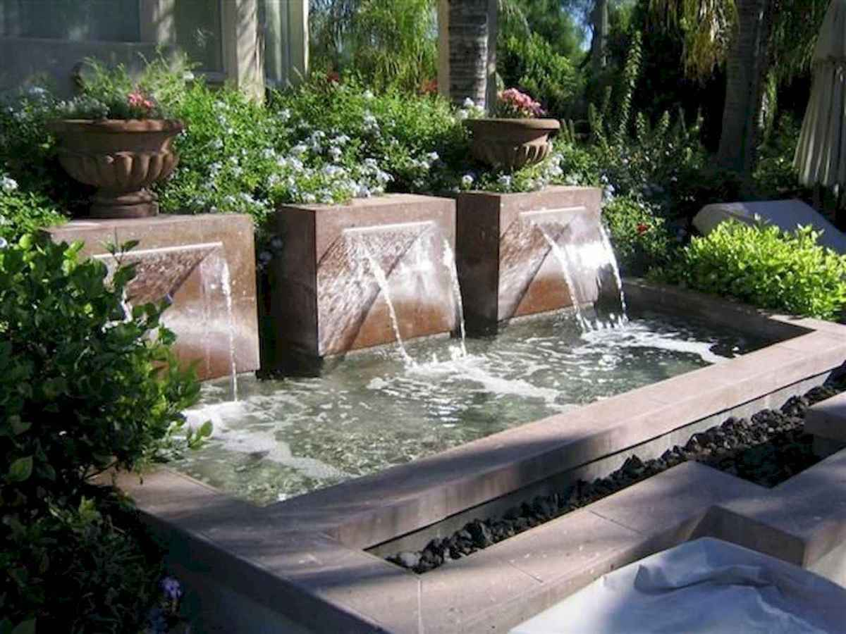 30 beautiful backyard ideas water fountains design and makeover (12)