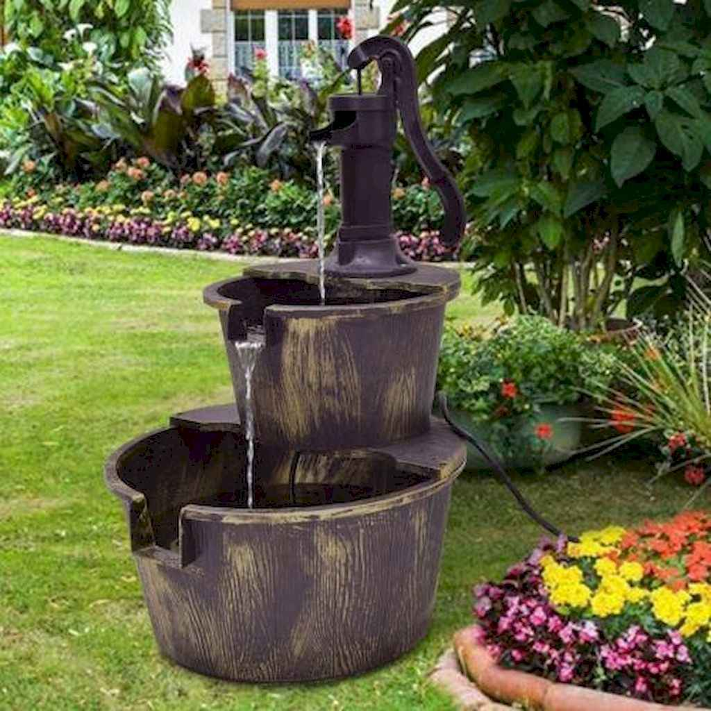 30 beautiful backyard ideas water fountains design and makeover (20)
