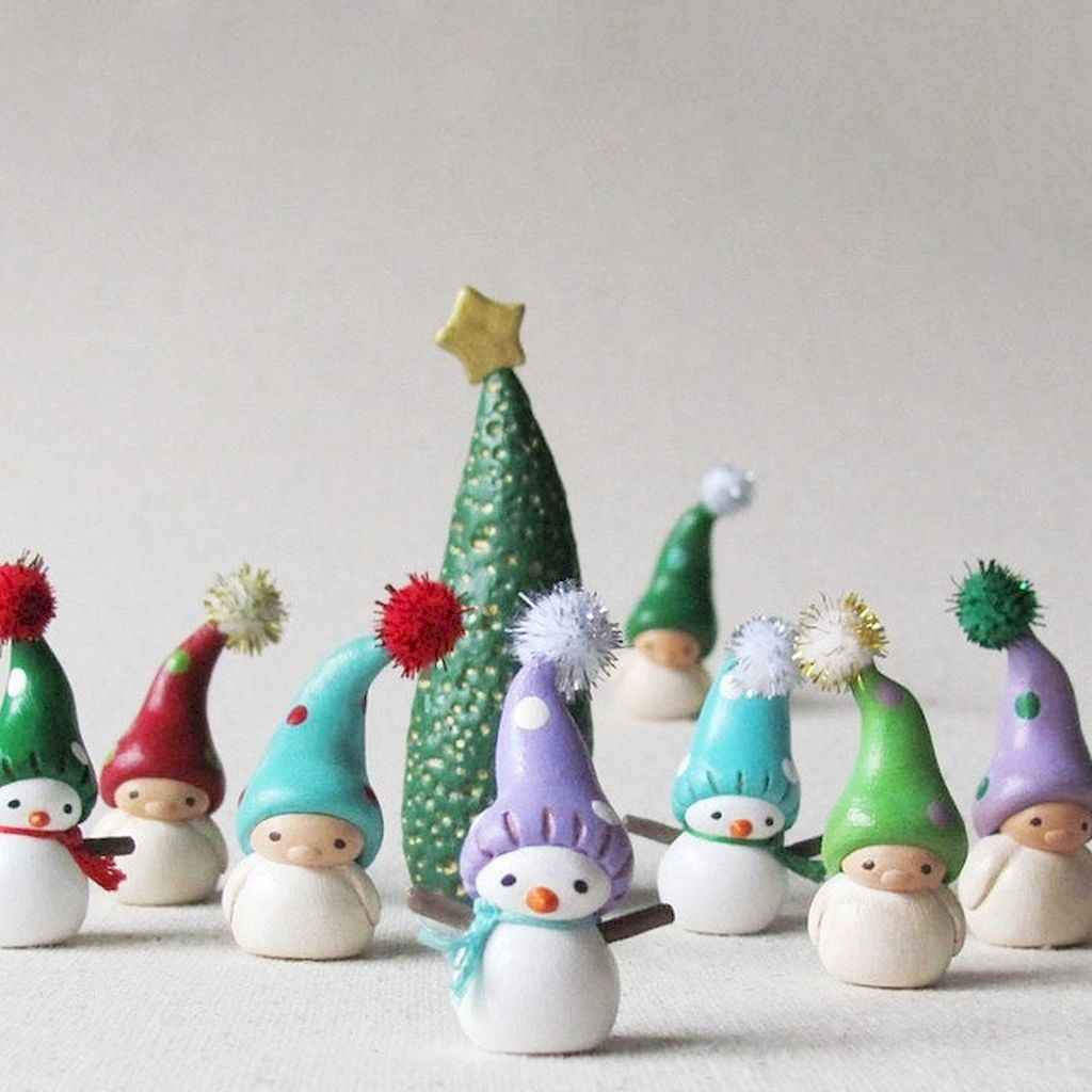 50 easy to try diy polymer clay christmas design ideas (11)