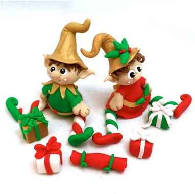 50 easy to try diy polymer clay christmas design ideas (6)