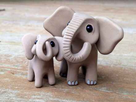 55 easy to try diy polymer clay animals design ideas (17)