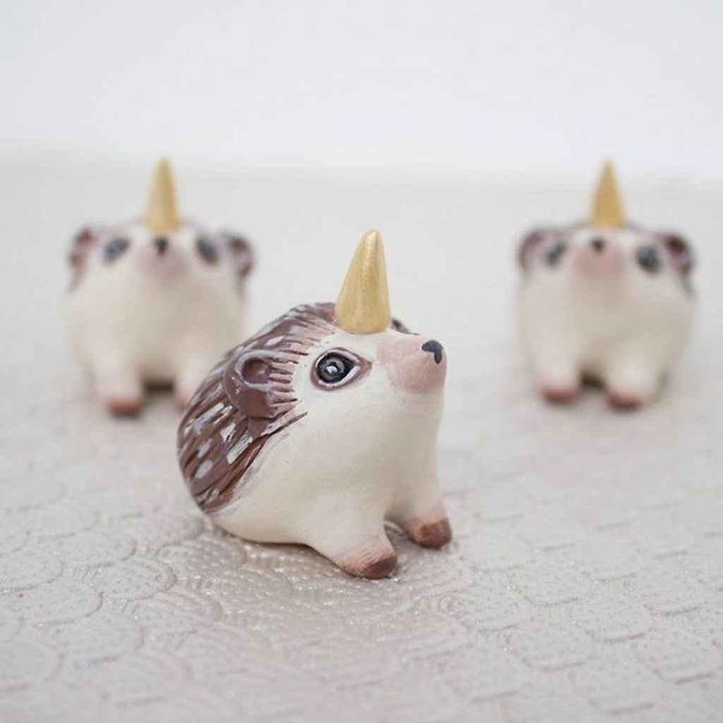 55 easy to try diy polymer clay animals design ideas (26)