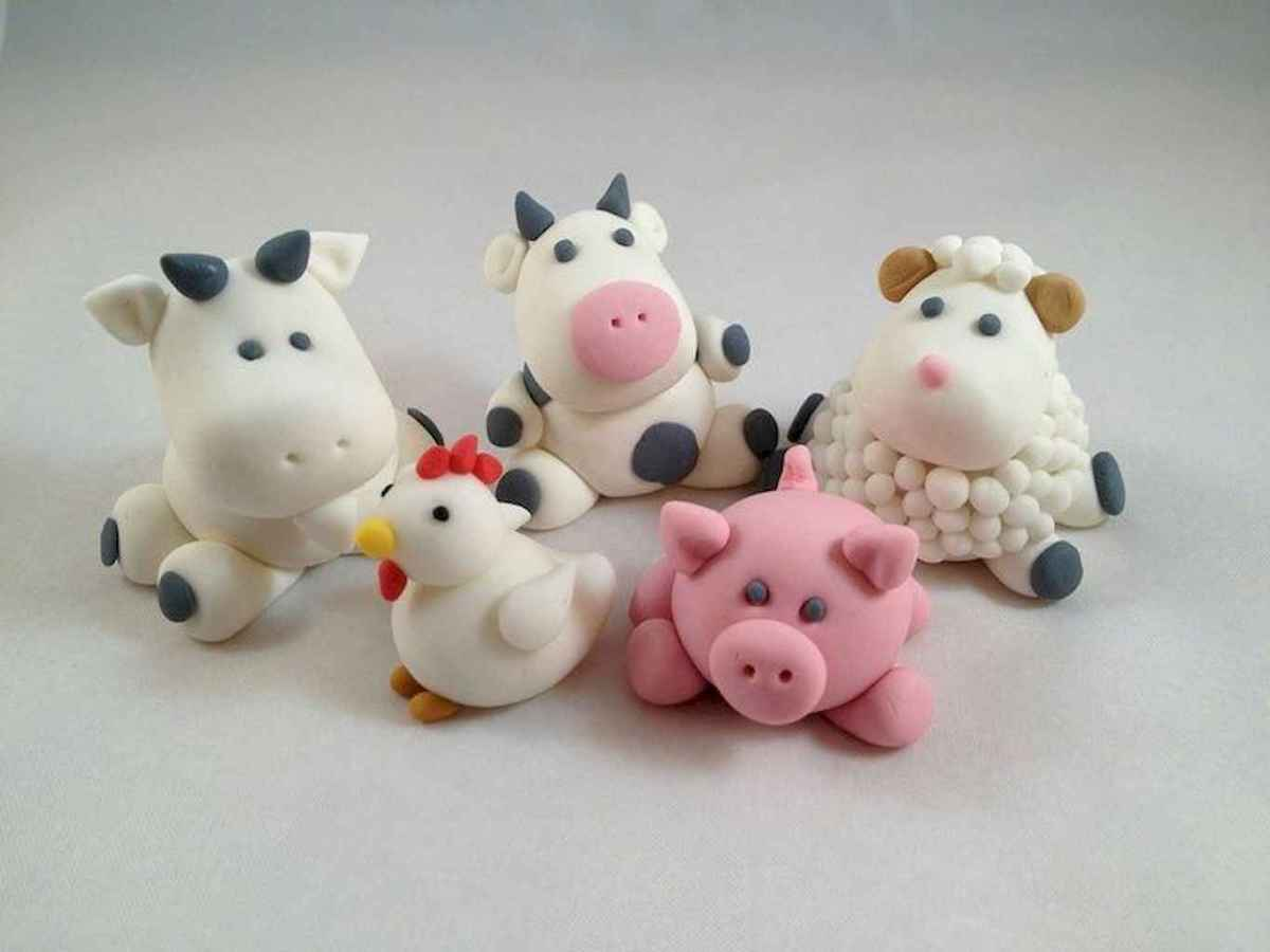 55 easy to try diy polymer clay animals design ideas (36)