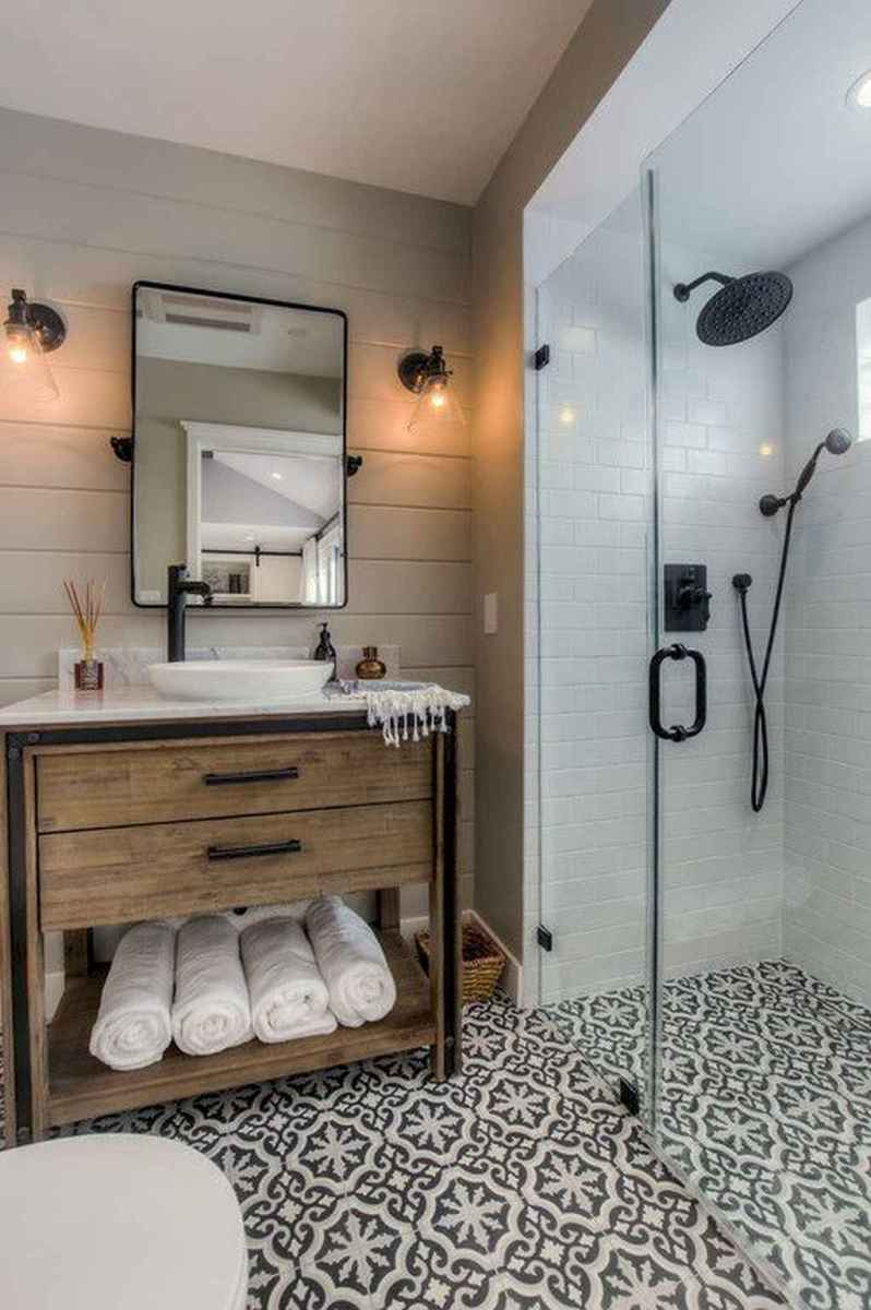 100 best farmhouse bathroom tile shower decor ideas and remodel to inspiring your bathroom (1)
