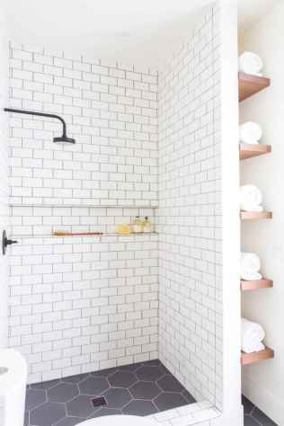 100 best farmhouse bathroom tile shower decor ideas and remodel to inspiring your bathroom (10)