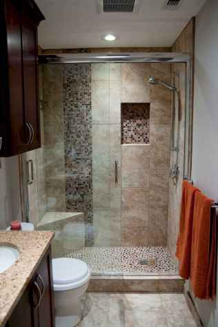 100 best farmhouse bathroom tile shower decor ideas and remodel to inspiring your bathroom (11)