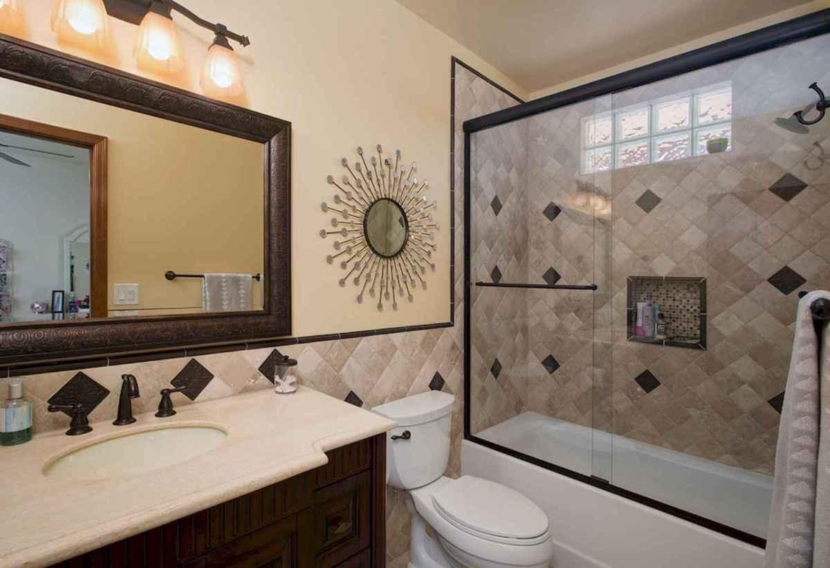 100 best farmhouse bathroom tile shower decor ideas and remodel to inspiring your bathroom (12)