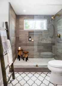 100 best farmhouse bathroom tile shower decor ideas and remodel to inspiring your bathroom (18)