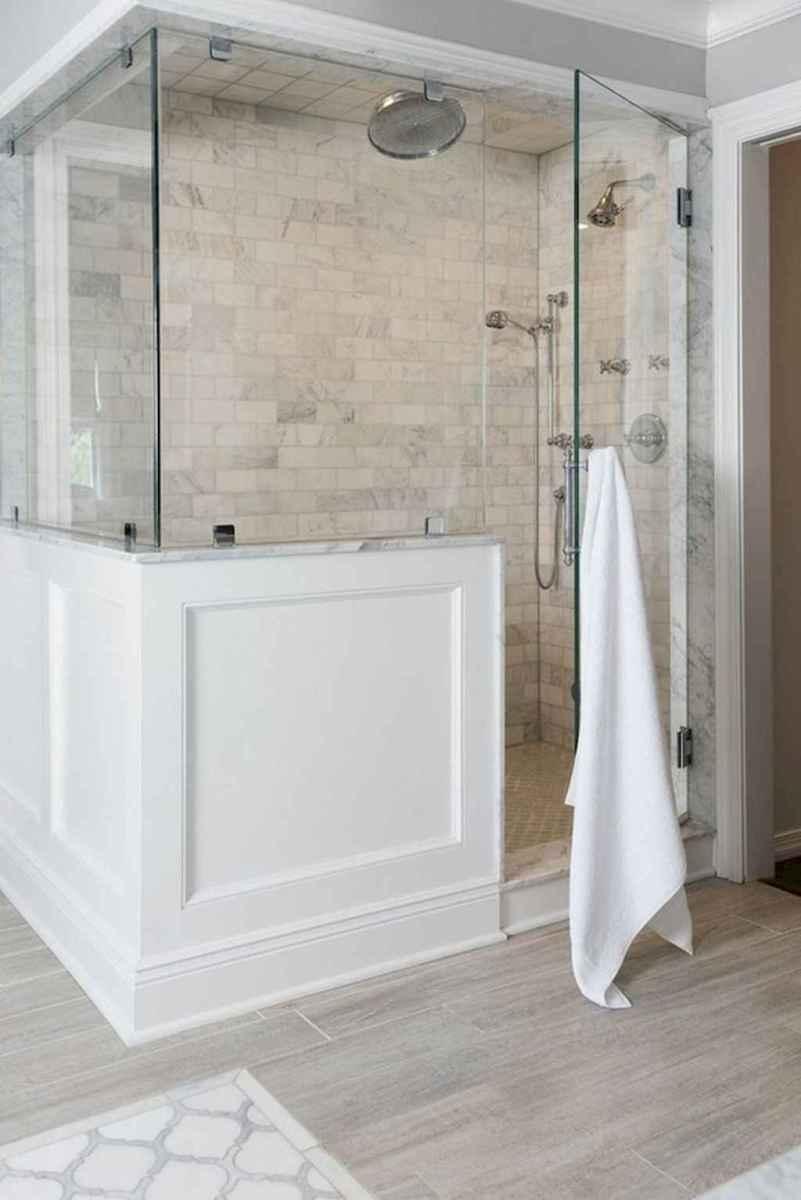 100 best farmhouse bathroom tile shower decor ideas and remodel to inspiring your bathroom (3)