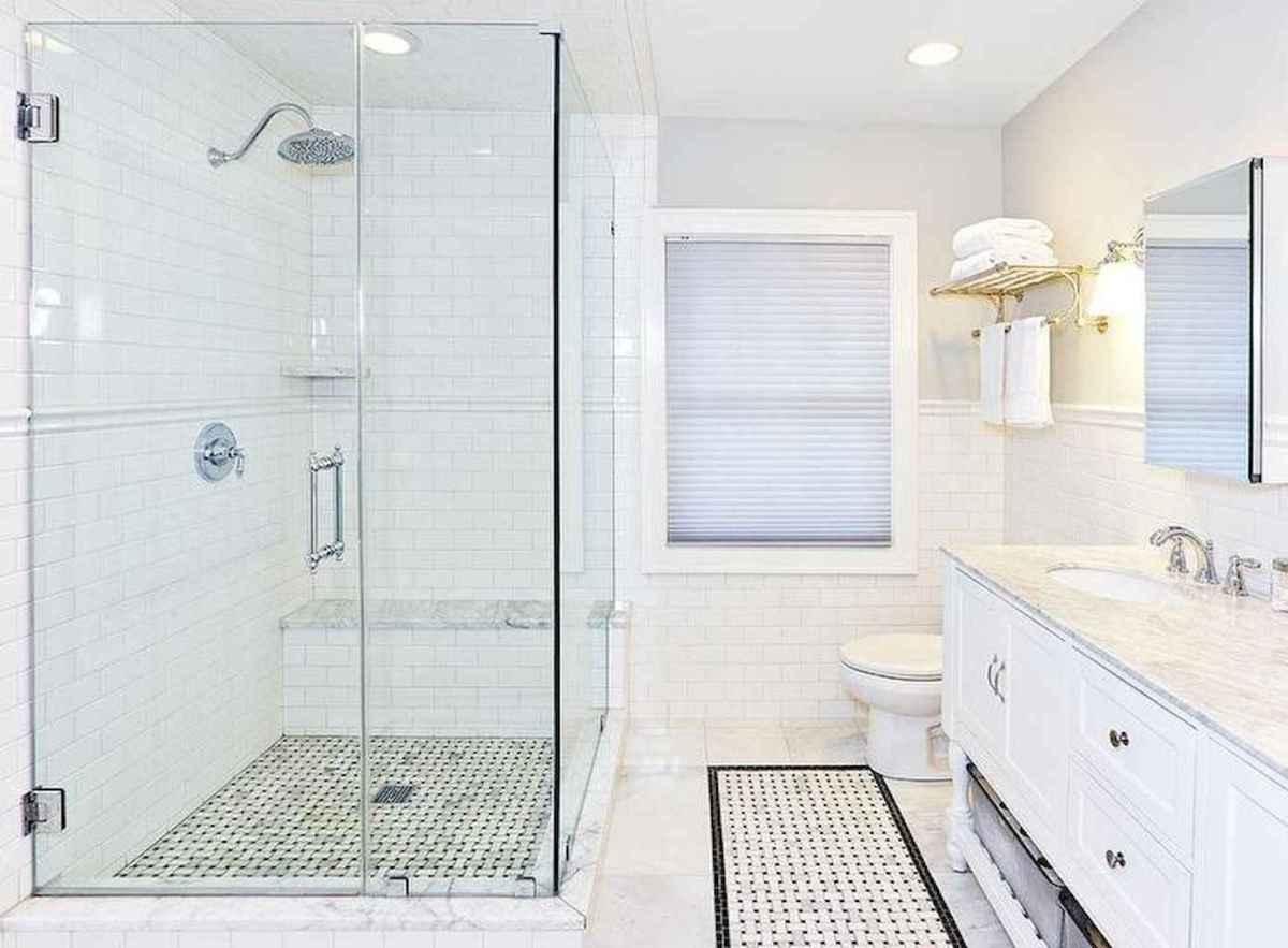 100 best farmhouse bathroom tile shower decor ideas and remodel to inspiring your bathroom (36)