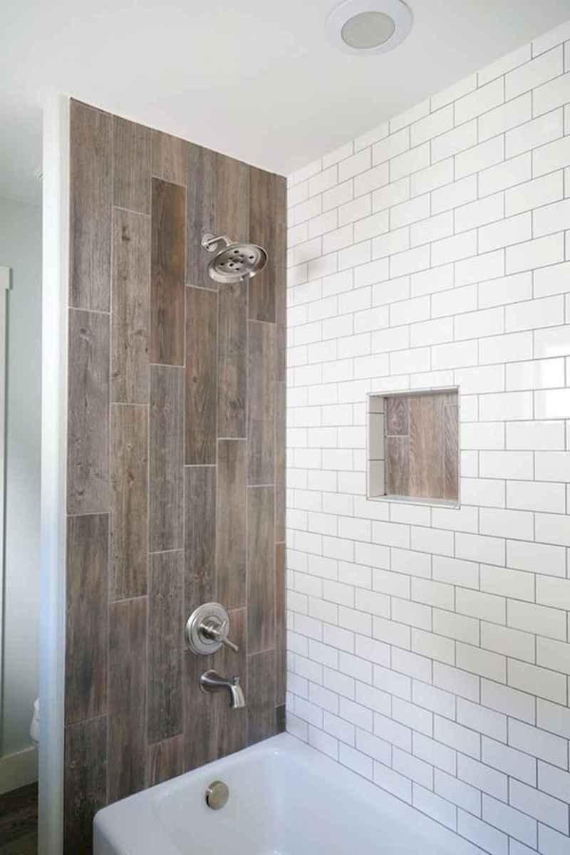 100 best farmhouse bathroom tile shower decor ideas and remodel to inspiring your bathroom (43)