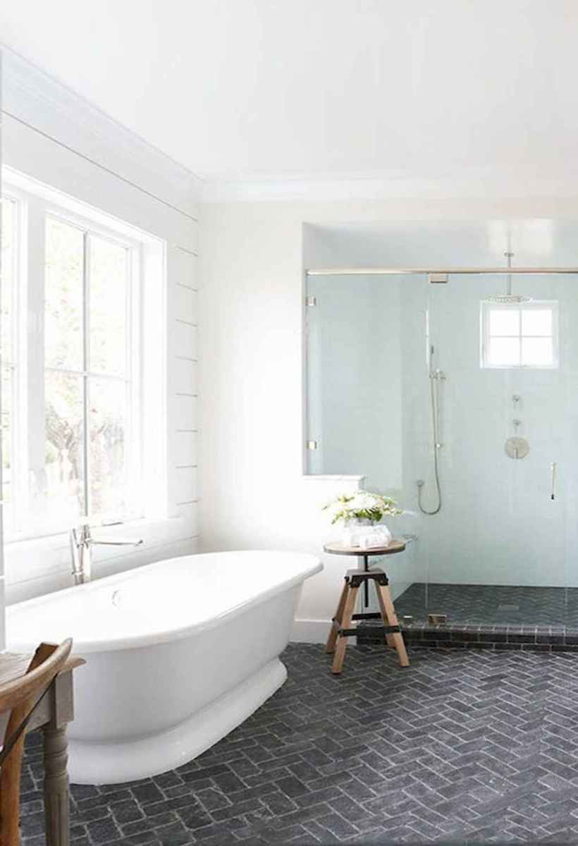100 best farmhouse bathroom tile shower decor ideas and remodel to inspiring your bathroom (45)