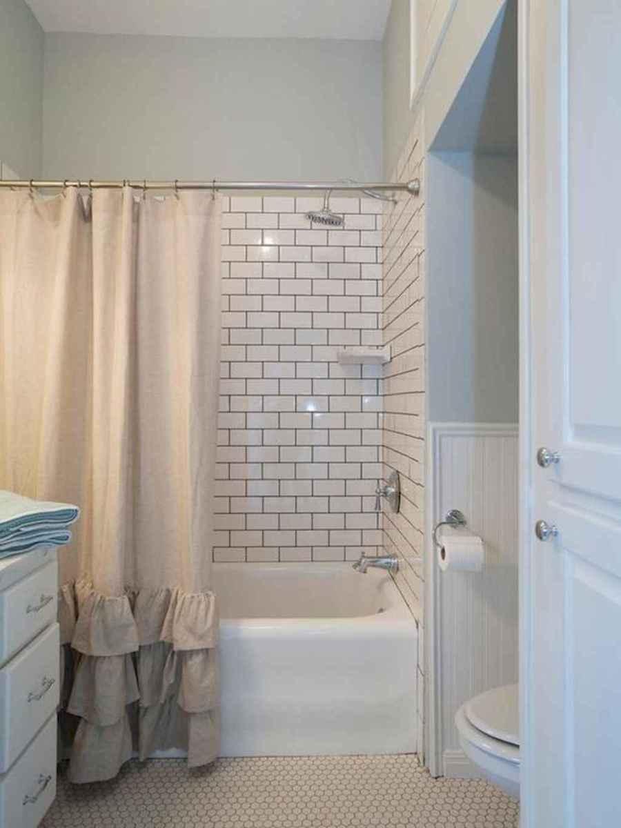 100 best farmhouse bathroom tile shower decor ideas and remodel to inspiring your bathroom (49)