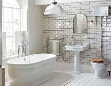 100 best farmhouse bathroom tile shower decor ideas and remodel to inspiring your bathroom (5)