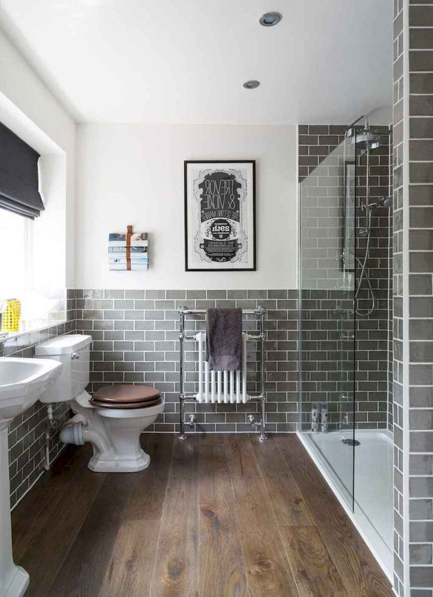 100 best farmhouse bathroom tile shower decor ideas and remodel to inspiring your bathroom (58)