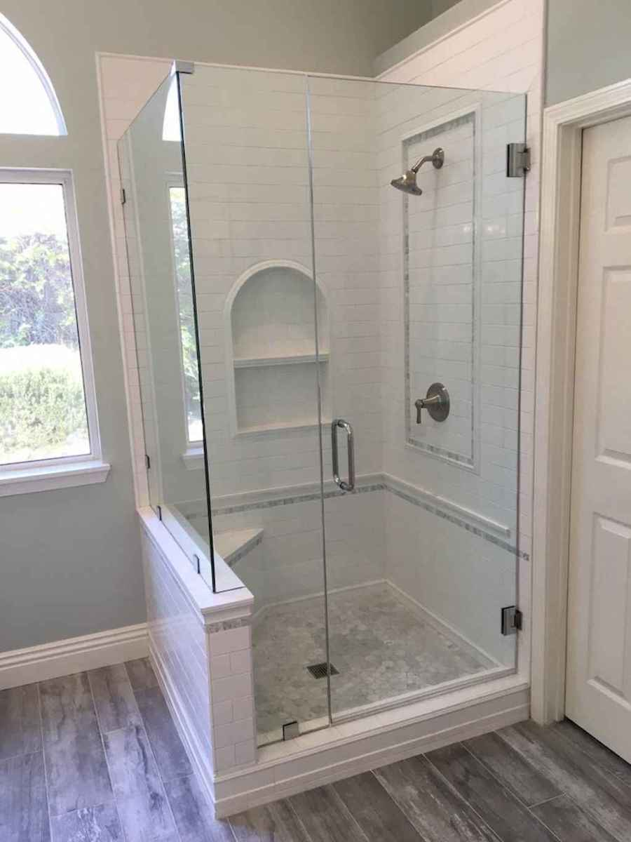 100 best farmhouse bathroom tile shower decor ideas and remodel to inspiring your bathroom (81)