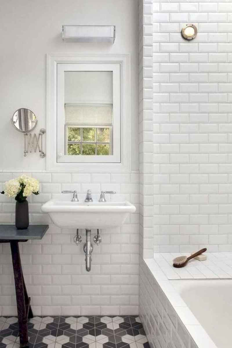 100 best farmhouse bathroom tile shower decor ideas and remodel to inspiring your bathroom (84)