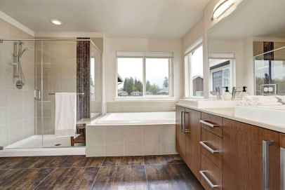 100 best farmhouse bathroom tile shower decor ideas and remodel to inspiring your bathroom (86)