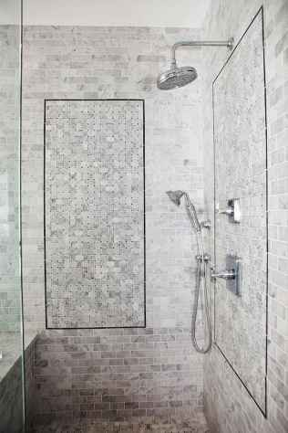 100 best farmhouse bathroom tile shower decor ideas and remodel to inspiring your bathroom (88)