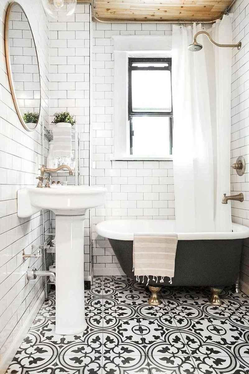 100 best farmhouse bathroom tile shower decor ideas and remodel to inspiring your bathroom (89)
