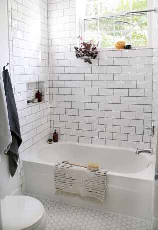 100 best farmhouse bathroom tile shower decor ideas and remodel to inspiring your bathroom (98)