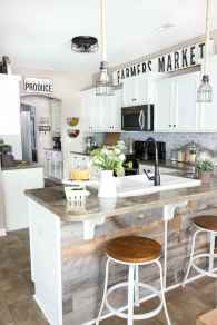 120 awesome farmhouse kitchen design ideas and remodel to inspire your kitchen (126)