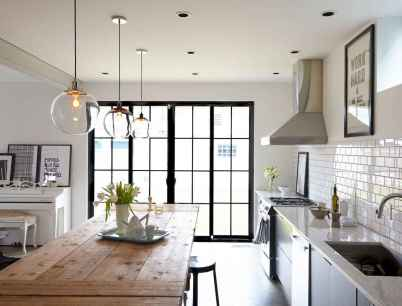 120 awesome farmhouse kitchen design ideas and remodel to inspire your kitchen (147)