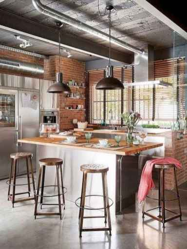 120 awesome farmhouse kitchen design ideas and remodel to inspire your kitchen (61)