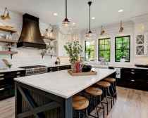 120 awesome farmhouse kitchen design ideas and remodel to inspire your kitchen (83)
