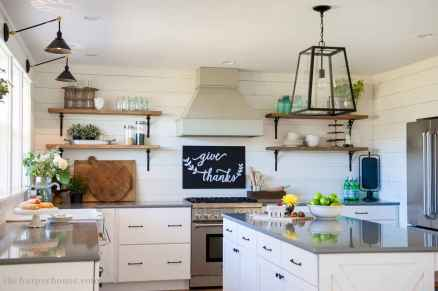 120 awesome farmhouse kitchen design ideas and remodel to inspire your kitchen (86)