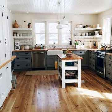 120 awesome farmhouse kitchen design ideas and remodel to inspire your kitchen (88)