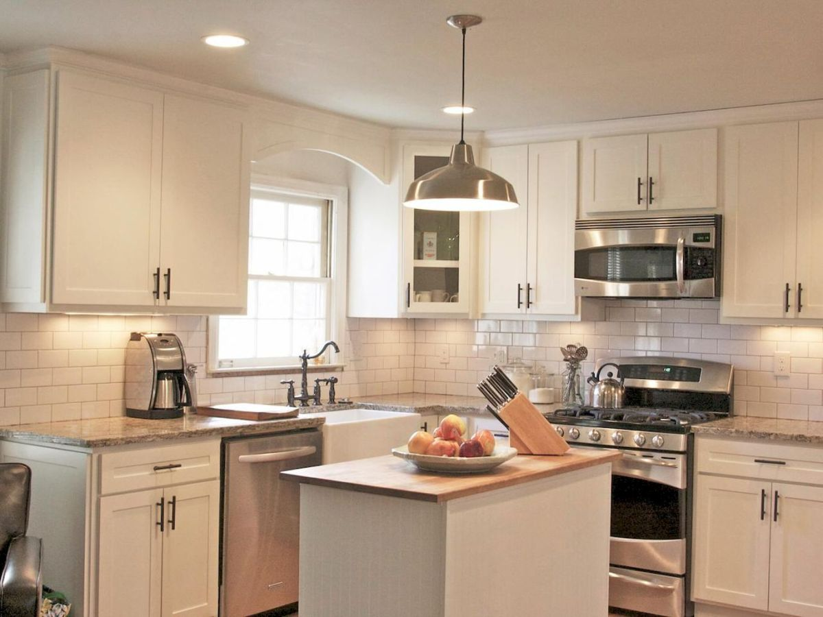 120 beautiful small kitchen design ideas and remodel to inspire your kitchen beautiful (5)