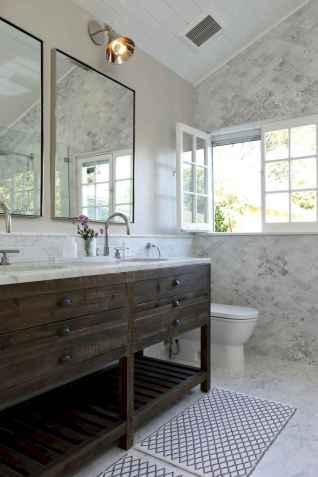 150 stunning farmhouse bathroom tile floor decor ideas and remodel to inspire your bathroom (10)