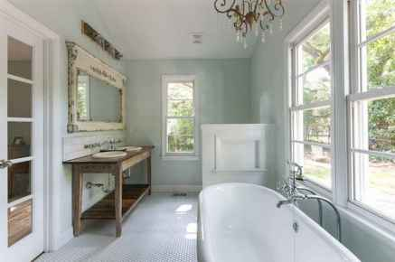 150 stunning farmhouse bathroom tile floor decor ideas and remodel to inspire your bathroom (12)