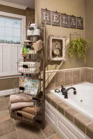 150 stunning farmhouse bathroom tile floor decor ideas and remodel to inspire your bathroom (137)