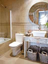 150 stunning farmhouse bathroom tile floor decor ideas and remodel to inspire your bathroom (38)