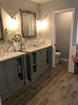 150 stunning farmhouse bathroom tile floor decor ideas and remodel to inspire your bathroom (60)