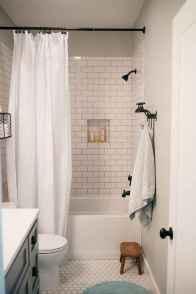 150 stunning farmhouse bathroom tile floor decor ideas and remodel to inspire your bathroom (7)
