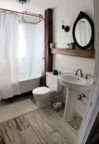 150 stunning farmhouse bathroom tile floor decor ideas and remodel to inspire your bathroom (89)