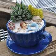 50 easy diy summer gardening teacup fairy garden ideas (17)