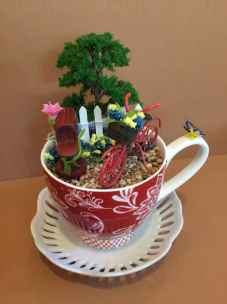 50 easy diy summer gardening teacup fairy garden ideas (2)