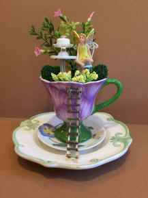 50 easy diy summer gardening teacup fairy garden ideas (23)