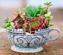 50 easy diy summer gardening teacup fairy garden ideas (31)